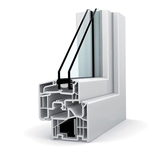 fenetre pvc double vitrage kf 310 home soft - Fenêtres PVC